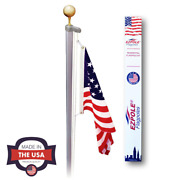 Flagpole Kit High Quality Definitive Rope W/ Pulley System Outdoor Decor Kit