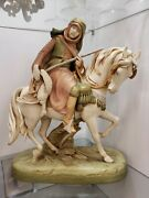 Rare Royal Dux And039arab On The Huntand039 On Horse Large 17 Figure