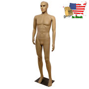 Male Full Body Realistic Model Mannequin Display Head Turns Dress Form With Base