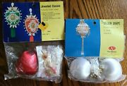 2 Vintage Beaded Christmas Ornament Kits Jeweled Classic And Golden Drape New