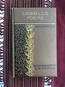 Signed Lowellandrsquos Poems Illustrated James Russell Lowell Houghton Mifflin Rare