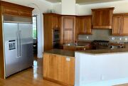 14 Piece Brown Kitchen Cabinet Set W/ 11 Base 3 Uppers 12 Drawers Island Pieces