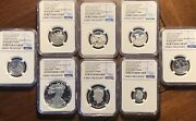 2016 Ngc Pf 69 / 70 Proof Silver Eagle Limited Edition Set Early Releases