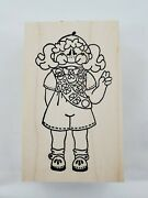 Girl Scout With Sash Rubber Stamp, Cute, Alota, Scrapbooking New