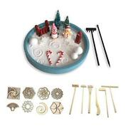 Mini Zen Garden Winter With Sand Stamps And Rake Set