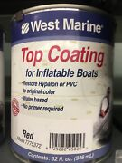 West Marine Top Coating For Inflatables Red