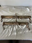 Two Antique Primitive Wood And Iron Single Trees
