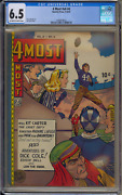 4 Most Comics V6 4 Novelty Press Cgc 6.5 Fn+ Golden Age 9-10/47 Off-w/w Pages
