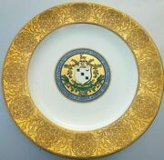 Antique Set 16 Wedgwood Armorial Crest Porcelain 10 Cabinet Plates Mary Sibley