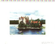 Malcolm Morley Rhine Chateau Signed 22.75 X 28.25 Offset Lithograph 1972