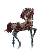 Genuine Murano Glass Sculpture Horse To Trot Made In Italy Hand Crafted