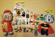 Vintage Alvin And The Chipmunks Ideal Pvc Figure Toy Lot