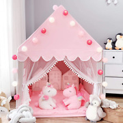 Avrsol Kids Play Tent Princess Castle With 9.9ft Star String Lights Girls Large