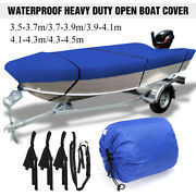 11.5and039 - 14.8and039 Heavy Duty Open Boat Cover Trailerable Fishing Bass Runabout 210d