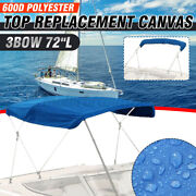 3 Bow Bimini Top Boat Replacement Canvas Cover No Frame 600d Uv Resistant