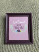 American Girl Blaire's Welcome To Farmhouse Picture Frame Poster New 18 Doll