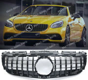 Panamericana Gloss Black Series Amg Gt Grille Facelift 2016 On Mercedes Slc R172