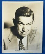Will Rogers Autographed - Signed - Circa 1930s Fox Studios Type 1 Photo - Jsa