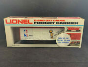 Lionel Nba Basketball Car O And O27 Freight Carrier 6-9359 W/ Logo Decals In Box