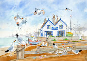 Who Dares Wins Whitstable Ready To Frame Print From A Watercolour By D.bailey