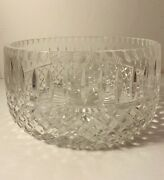 Vintage Large Clear Lead Crystal Cut Glass Bowl 9andrdquo Waterford