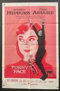 Funny Face Original Movie Poster Astaire - Hepburn 1957 Hollywood Posters