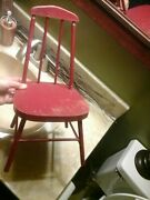 Vintage/antique Red Doll Windsor Chair/ Childs 17 High
