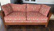 Stickley Sofa - 2002 Mission Arts And Crafts W/ Prairie Spindle Sides 81x37x29