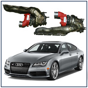 2012 2013 Audi S7 4.0t Stage 2 Upgraded Billet Wheel Turbochargers W/ Manifolds