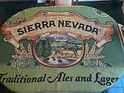 Sierra Nevada Ales And Lagers Graphic Cotton Throw Blanket 64x50 Large Rare Vhtf