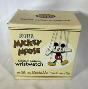 Fossil Limited Edition 0995/1000 Mickey Mouse Watch With Collectible Marionette
