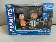 Memory Lane Peanuts Marcie Peppermint Patty Baseball Dugout Deluxe Playset 7795