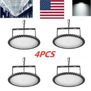 4x 300w Ufo Led High Bay Light Fixture Warehouse Industrial Gym Mining Lamp Us