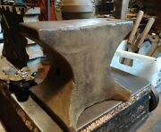 157 Lbs Antique Blacksmith Hornless Mouse Hole Anvil