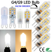 G9/g4 Led Bulb Replacement Ac/dc 12v Capsule Light Dimmable Halogen Desk Lamps