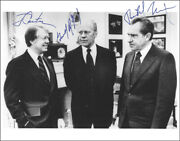 The Three Presidents - Autographed Signed Photograph Circa 1978 With Co-signers