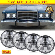 4x 5.75 Inch Chrome Led Headlights Projector Sealed For Ford Old Classic Cars