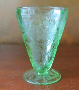 Jeannette Floral Poinsettia Depression Green 4andrdquo Footed 5 Oz Tumblers