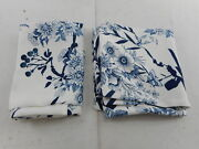 Lush Dcor White/blue Farmhouse Bird And Flower Window Curtain Pair 95and039and039 X 38