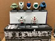 Gundam Head Collection Complete 7 Pcs. Set Used