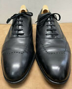 Bespoke John Lobb Leather Oxford Black Dress Shoes Menandrsquos 9.5 Made In England