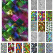 3d Rainbow Window Film Privacy Stained Glass Static Cling Stickers Frosted Decor