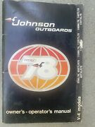 1978 Johnson Outboards Seahorse V-4 Owners Manual