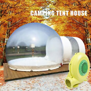Inflatable Commercial Grade One Room Pvc Clear Eco Dome Camping Bubble Tent New