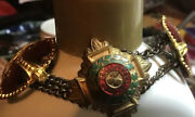 Ww2 British Land Army Womans Corps Bracelet Rare Cloissoine Ornate Small Wrist