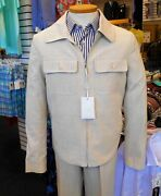 Cigar 2pc 100 Cotton Tan Walking Suit Zip Front With Pockets 149.99
