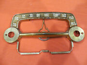 Vintagew Crosley Dashboard Radio Front Plate Parts Dial Trim Stations 1679