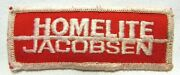 Vintage Homelite Jacobsen Jacket Patch Badge Lawnmower Chainsaw Advertising