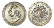 O454 France 1883 Silver Medal By Gatteaux First Balloon Flight Montgolfier R