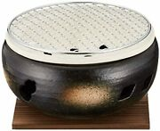 Maruyoshi Pottery Ise Charcoal-grilled Water Stove No. 7 Black M4603